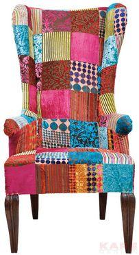 Fauteuil oreilles pour enfant patchwork kare design seats pinterest w - Fauteuil design patchwork ...