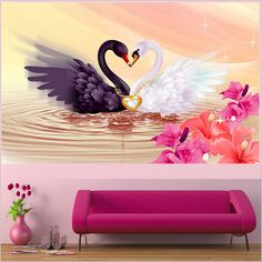 Hot Sale 5D Swan Eternal Love Round Diamond Painting Cross Stitch Kits Soulmate Diamond Mosaic Home Decor Diamonds Embroidery
