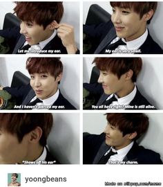 hoseok's charm is his not pierced ear .. if this ain't the cuttest thing what is !! :~) | allkpop Meme Center