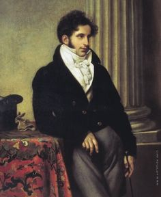 "Orest Kiprensky: ""Portrait of Sergei Semyonovich Uvarov"", 1815/16, oil on canvas, Dimensions: 117.3 x 90.8, Current location: State Tretyakov Gallery; Moscow, Russia. Corsets, Era Georgiana, Oil Painting Supplies, Google Art Project, Imperial Russia, Painting Still Life, S Man, Art Google, Family Portraits"