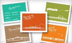 Portland Bridges Cards - great gift!  Custom made stationary by The Card Bar http://184.171.241.196/~thecb/index2.php?v=v1#!/Home