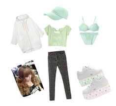 """*20"" by emanuela-noir ❤ liked on Polyvore featuring Ashish, Monki and GREEN"
