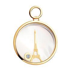 Pendentif Tour Eiffel avec diamant – Girls Best Friends