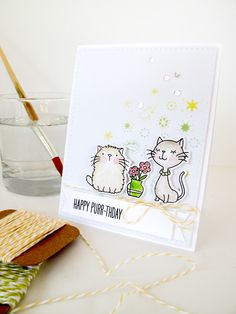 Cool Cat - MFT.  Card by Nicky Noo Cards #nickynoocards and  https://www.facebook.com/nickynoocards/