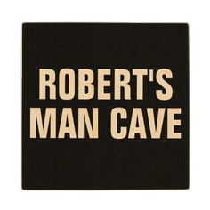 PERSONALIZED MAN CAVE WOODEN COASTER