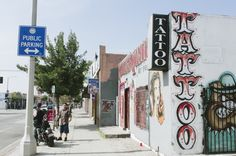Tattoo shop. Part of a project to photograph different areas of LA, from ARMphotography. This is in Highland Park CA.