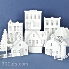 SVG, DFX, cutting files for use with paper cutting machines including the Silhouette Dormer House, Chevron Cards, Putz Houses, Mini Houses, Village Houses, Gingerbread Houses, Mix And Match Fashion, 3d Building, Glitter Houses