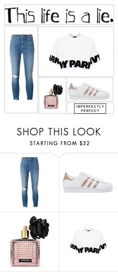 """""""This Life is a Lie"""" by lilyismyname-13 ❤ liked on Polyvore featuring J Brand, adidas Originals, Victoria's Secret and Topshop"""