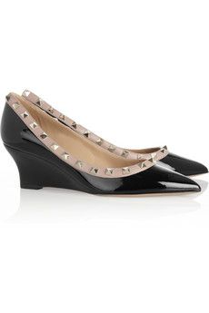 Valentino patent stud wedges.  These shoes haunt me.