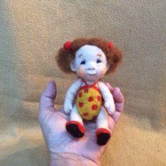 Needle felted wooly kid. -Barb Soet