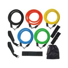 home fitness equipment wpg pilates yoga core training resistance bands set exercise bands home gym fitness equipment workout ba Resistance Band Training, Resistance Workout, Resistance Band Exercises, Strength Training, Gym Workouts, At Home Workouts, Home Workout Equipment, Fitness Equipment, Gym Fitness