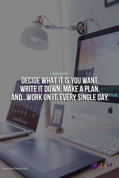 The moment you write your goals down, you feel obligated to take actions and make them reality.