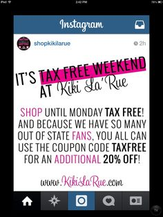 They're at it again!  Head over to @shopkikilarue to grab what you've been waiting for at 20% off!!
