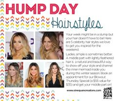 Wednesday is Hump Day! Check out the Sine Qua Non Blog for hairstyles getting us through this week! #SQNChicago