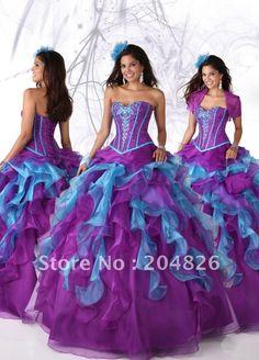 Fun Mardi Gras ball dress.  Corsage Bodice   Occidentales. élégant bustier corsage perlé bleu lavande couche ...