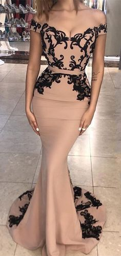 Cheap Vogue Prom Dresses 2019 Unique Mermaid Lace Off Shoulder Long Prom Dress, Lace Evening Dress Sexy Cocktail Dress Evening Dresses Uk, Prom Party Dresses, Bridesmaid Dresses, Prom Gowns, Dress Prom, Dress Formal, Formal Prom, Wedding Dresses, Elegant Evening Gowns