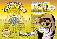 What Time Is It? Check out this #Howtoon that teaches you how to tell time using your fingers and the sun. Warning: Never look directly into the sun. It will blind you!
