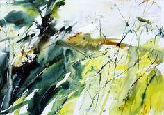 Expressive landscape watercolour by Adrian Homersham http://adrianhomersham.co.uk/