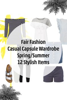 12 Fair Fashion Items– Casual Capsule Wardrobe with Items from Armedangels, Flore Fashion Store and Birkenstock