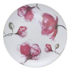 Pentik Marimekko, Finland, Plates, Ceramics, Dinnerware Ideas, Tableware, Plate Design, Red, Pink