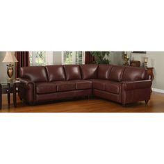 Leather Italia USA Casual Living 9529 Amherst Sectional in 1067 Wine
