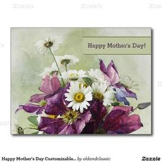 Happy Mother's Day. Fine Art Mother's Day Greeting Card. Flower painting. Artist Paul de Longpré. Circa 1900. Matching cards, postage stamps , envelopes and other products available in the Holidays / Mother's Day Category of the oldandclassic store at zazzle.com