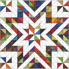 Starburst Wallhanging Pattern – Farm Fresh Fabrics
