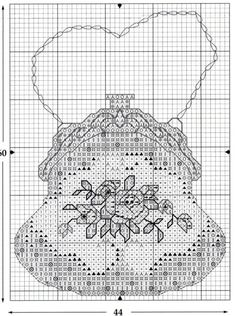 Another one - cross stitch purse Mini Cross Stitch, Cross Stitch Needles, Cross Stitch Cards, Cross Stitch Rose, Cross Stitch Flowers, Blackwork Cross Stitch, Cross Stitching, Cross Stitch Embroidery, Blackwork Patterns