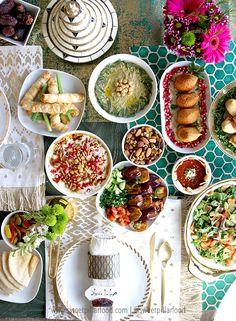 Ramadan recipes 2040762318339600 - Iftar table 2017 for Ramadan Middle East Food, Middle Eastern Recipes, Arabic Sweets, Arabic Food, Indian Food Recipes, Healthy Recipes, Ethnic Recipes, Amish Recipes, Dutch Recipes