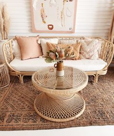 Our new Halcyon sofa & Maya rattan table 🙌🏼👌🏼 we're in LOOOVE! Boho Living Room, Living Room Decor, Bedroom Decor, Küchen Design, House Design, Modern Design, Ideas Terraza, Home Interior, Interior Design