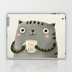 I♥kill (brown) Laptop & iPad Skin by Lime - $25.00