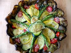 Roasted Vegetable Tart with Eggplant Crust - Proud Italian Cook Roasted Vegetable Lasagna, Vegetable Tart, Vegetable Puree, Roasted Vegetables, Veggies, Vegetable Ideas, Gourmet Recipes, Cooking Recipes, Healthy Recipes