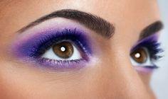 Eyes with purple makeup. Closeup of beautiful eyes with purple makeup , - Wedding Makeup Glam Brown Smokey Eye Makeup, Purple Smokey Eye, Dark Eye Makeup, Smokey Eyes, Gold Eye Makeup, Eyeshadow For Brown Eyes, Purple Makeup, Eyeshadow Makeup, Dramatic Wedding Makeup
