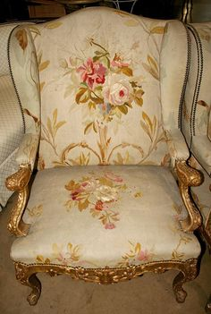 "vintage french chair ****Because she was the ""rich"" auntie.drove a Cadillac and lived in pretty houses on paved streets.with air conditioning. Shabby Vintage, French Vintage, Shabby Chic, French Furniture, Antique Furniture, Love Chair, French Chairs, Oui Oui, French Country Style"