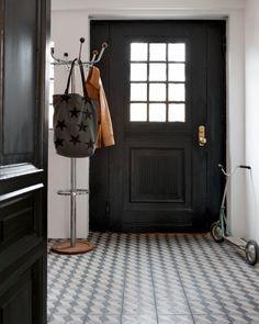 front door + mosaic floor