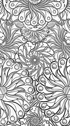 - ☮ Color it Yourself! Art  psychedelic ☮