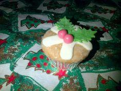 Christmas Pudding Cupcake - Made By Jade Sheldon