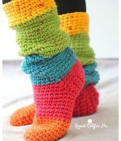 Caron Crochet Patterns Caron Chunky Cakes Slouchy Slipper Socks Repeat Crafter Me Caron Crochet Patterns Caron Cakes Crochet Pattern Free Triangle Scarf 13 Make Do Crew. Caron Crochet Patterns Free Crochet Patterns Featuring Caron C. Crochet Slipper Boots, Slipper Socks, Crochet Slippers, Easy Crochet Socks, Crochet Baby, Free Crochet, Knit Crochet, Crotchet, Chunky Crochet