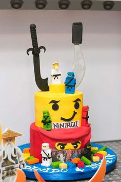 Take A Look At The Detail Of This Awesome Lego Ninjago Birthday Cake See More