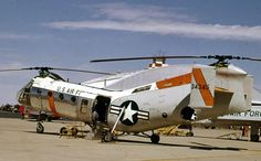 Piasecki H-21 helicopter at Hill AFB in 1962.  Photography by David E. Nelson