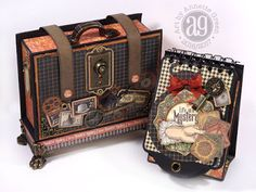 Annette's Creative Journey: Master Detective Briefcase and Mini Tag Album. Video shows all the details.