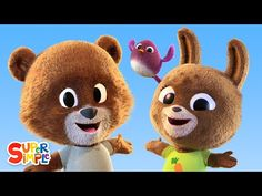 The Bear Went Over The Mountain | Nursery Rhyme | Super Simple Pa Songs - YouTube Simple App, Super Simple, Bear Songs, Circle Time Songs, Mountain Nursery, School Songs, Felt Stories, Teaching English, Primary English