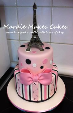 Paris Eiffel Tower Cake www.facebook.com/MardieMakesCakes