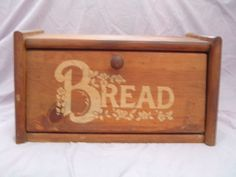 Vintage wooden bread box by luckyrosiescreations on Etsy, $25.00