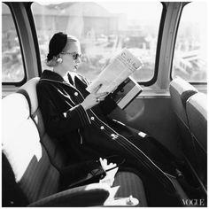 Mrs William McManus photographed by Joseph Leombruno and Jack Bodi, Vogue, April 1955