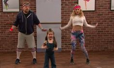 "Late night host James Corden and Kate Hudson were put to the test as they joined a dance class taught by … children!  ""I know you think you're in shape but these instructors are going to beat you down,"" James warned Kate at the start of the class.  ""I think I'll be fine,"""