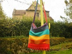 Show your PRIDE with handmade rainbow sacoche made from recycled fabrics. Available from TATI ANGE on Etsy.