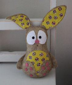 rabbit felt toy by plushka