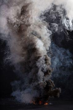 Fumaça e fogo