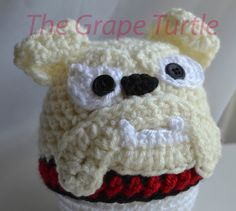 Crochet Georgia Bulldog Hat Georgia Bulldog by TheGrapeTurtle, $20.00